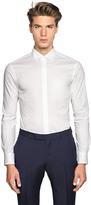 Z Zegna Slim Fit Stretch Cotton Poplin Shirt