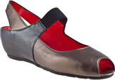 Pas De Rouge Silvia Wedge Multi Pewter Leather