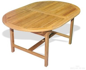 Regal Teak Solid Wood Dining Table