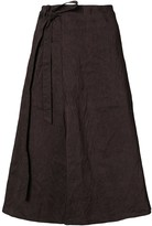 Forme D'Expression striped side tie skirt