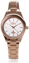 Vivienne Westwood Women's VV111RS Holloway Analog Display Swiss Quartz Rose Gold Watch