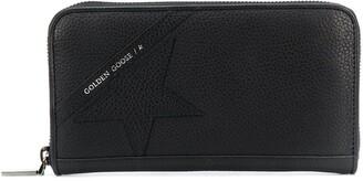 Golden Goose Star-Patch Zip-Around Continental Wallet