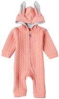 Niyatree Kids Romper Girl Hooded Romper Spring Cotton Jumpsuit - Size 90