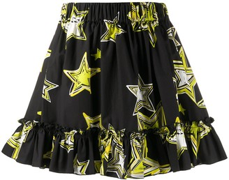 Gina Star Print Mini Skirt