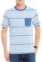 Daniel Cremieux Stripe Short-Sleeve Knit Jersey Crewneck Pocket Tee
