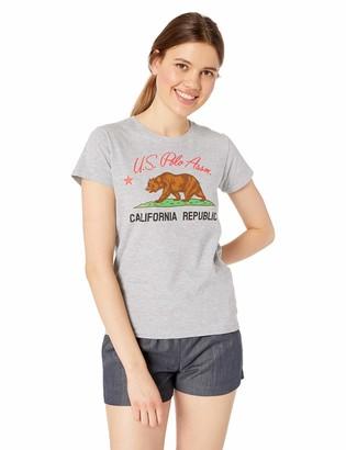 U.S. Polo Assn. Women's Cotton Jersey T-Shirt with California Republic Logo Print