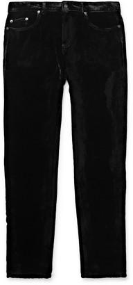 Saint Laurent Black Skinny-Fit Velvet Trousers