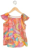 Milly Minis Girls' Printed Short Sleeve Top w/ Tags