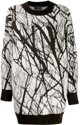 Cavallini Erika two-tone print jumper