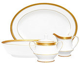 Noritake Crestwood Gold Embossed Scroll & Leaf Bone China 5-Piece Completer Set