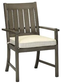 3.1 Phillip Lim Summer Classics Croquet Patio Dining Chair with Cushion Summer Classics Frame Color: Croquet Aluminum #31 Slate Gray, Cushion Color: Cabana Stripe Emerald