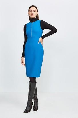 Karen Millen Zip Front Sharp Seam Pencil Dress