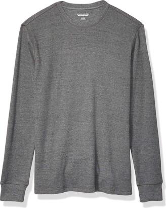 Amazon Essentials Slim-fit Long-sleeve Waffle Shirt Charcoal Medium