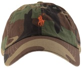 Ralph Lauren Camo Baseball Cap Brown