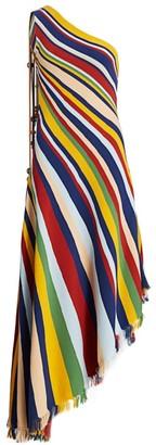 Oscar de la Renta Knit One-Shoulder Gown