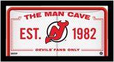 "Steiner Sports New Jersey Devils Framed 10"" x 20"" Man Cave Sign"