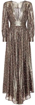 LoveShackFancy Cyrena metallic silk maxi dress