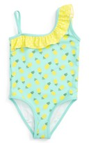Tucker + Tate Girl's Pineapple Ruffle One-Piece Swimsuit