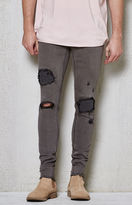 PacSun Skinniest Grey Destroyed Active Stretch Jeans