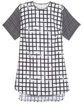 Ali Ro Short Sleeve Windowpane Print Dress