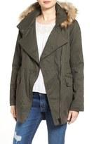 Sam Edelman Cotton Parka with Removable Faux Fur Trim Hood