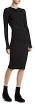 ATM Anthony Thomas Melillo Ruched Rib-Knit Dress