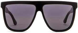Gucci Flat Top Sunglasses in Black & Grey   FWRD