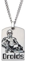 Star Wars C3PO Dro Stainless Steel Dog Tag Necklace