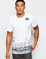Nike T-shirt With Court Print 715258-100 - White