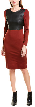 BCBGMAXAZRIA Mixed Media Sheath Dress