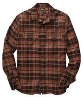 Todd Snyder Flannel Plaid Shirt in Brown/Black