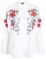 Topshop Embroidered Poplin Shirt
