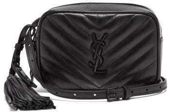 Saint Laurent Lou Chevron Quilted Leather Belt Bag - Womens - Black