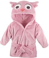 Hudson Baby Pink Owl Hooded Bathrobe - Infant