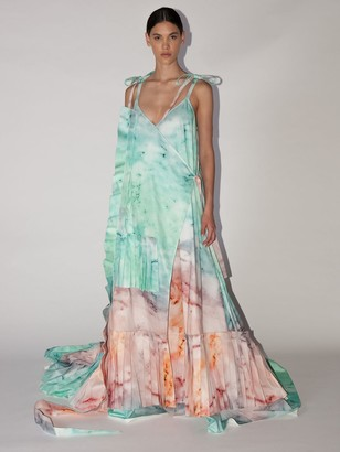 Off-White Lvr Exclusive Printed Cotton Blend Dress