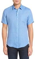 Zachary Prell Men's Kaplan Slim Fit Linen Sport Shirt