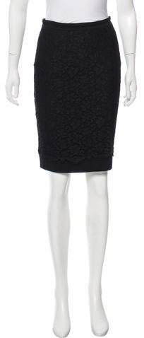 Dolce & Gabbana Lace-Accented Knee-Length Skirt