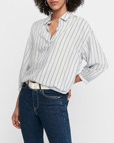 Express Oversized Striped Menswear Shirt