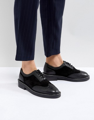 Asos Design ASOS MUNICH Leather Flat Shoes