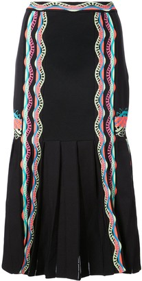 Peter Pilotto Ric-Rac Trimmed Skirt