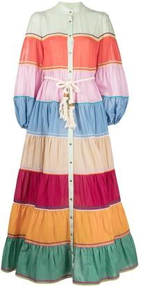 Zimmermann Riders striped tiered dress
