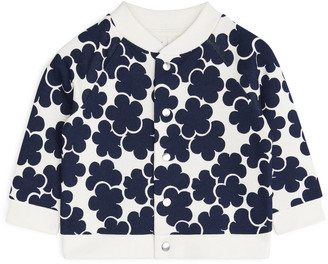 Arket Polka Dot Sweatshirt Jacket