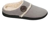 Dearfoams Medium Gray Quilted Button Clog Slipper