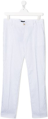 Emporio Armani Kids TEEN stripe print trousers