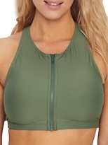 Sunsets Olive Scuba Bikini Top