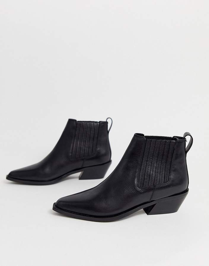cd50d232fc6 Design DESIGN Adelaide leather western chelsea boots in black