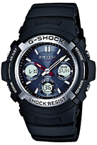 Casio Awg-m100-1aer G-shock Waveceptor Chronograph Plastic Strap Watch, Black