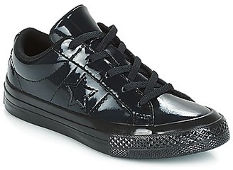 Converse ONE STAR SYNTHETIC OX girls's Shoes (Trainers) in Black