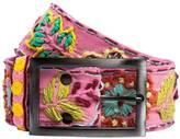 Coco + Carmen Embroidered Flower Belt