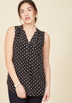 ModCloth Girl About Scranton Tunic in Polka Dots in XS